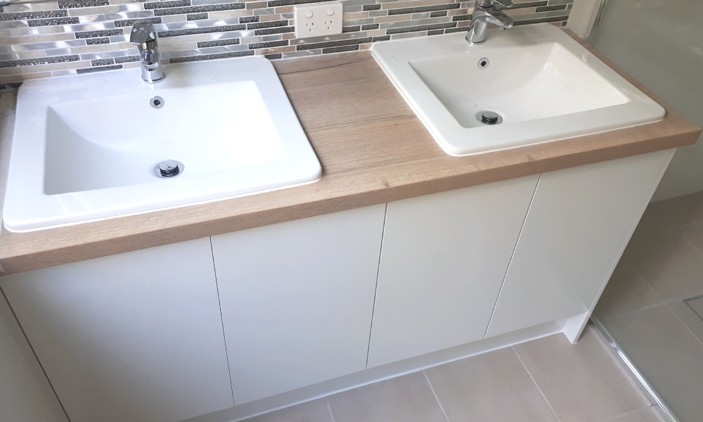 Double Semi-Inset Basin Custom Vanity