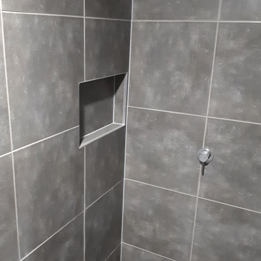 Polished Concrete Bathroom Niche