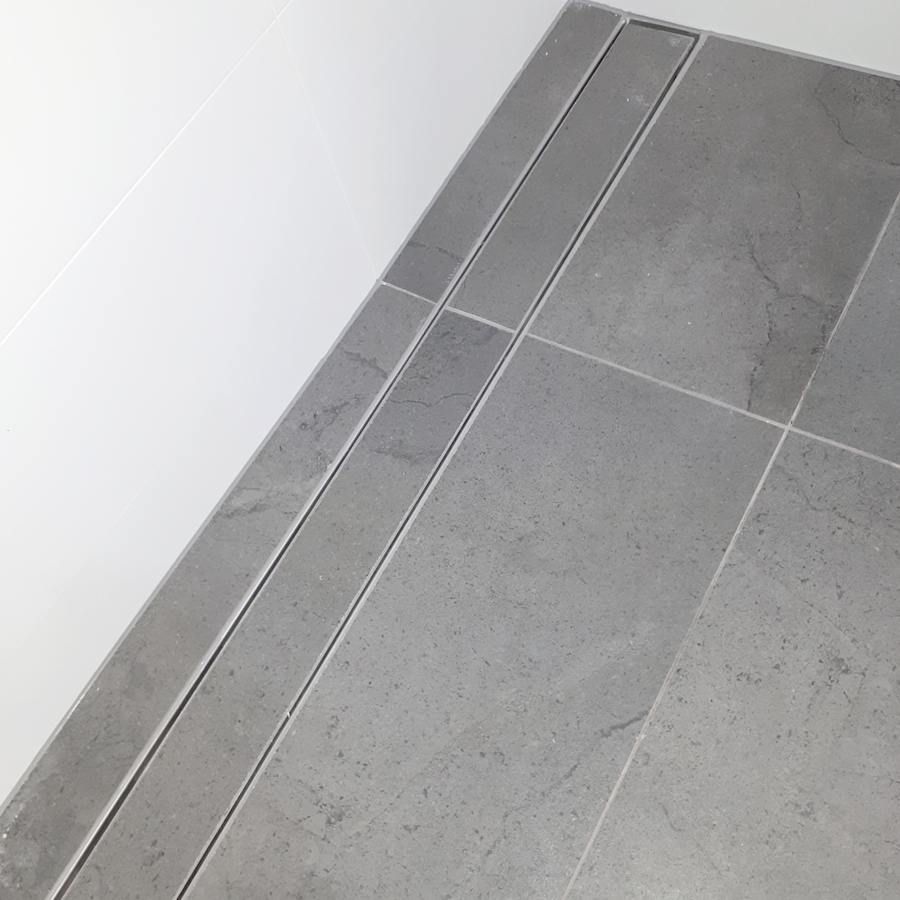 Long Tile Inset Strip Drain
