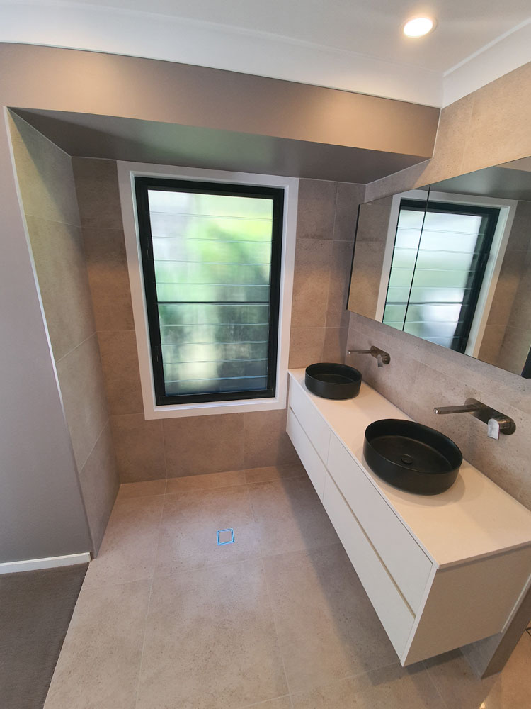 Tiled Bathroom Interior