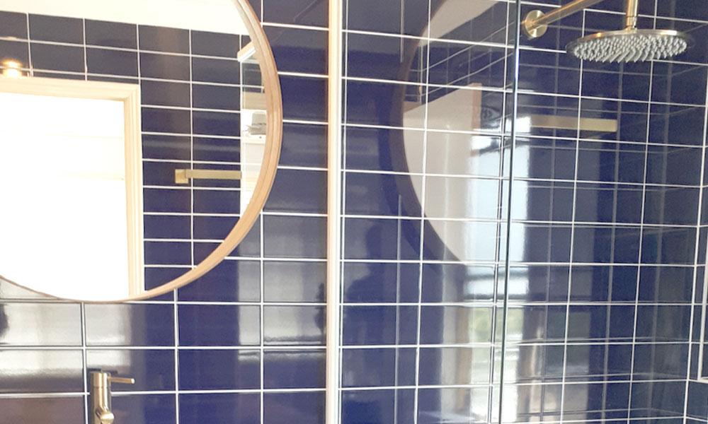 Blue Brass Bathroom Renovation
