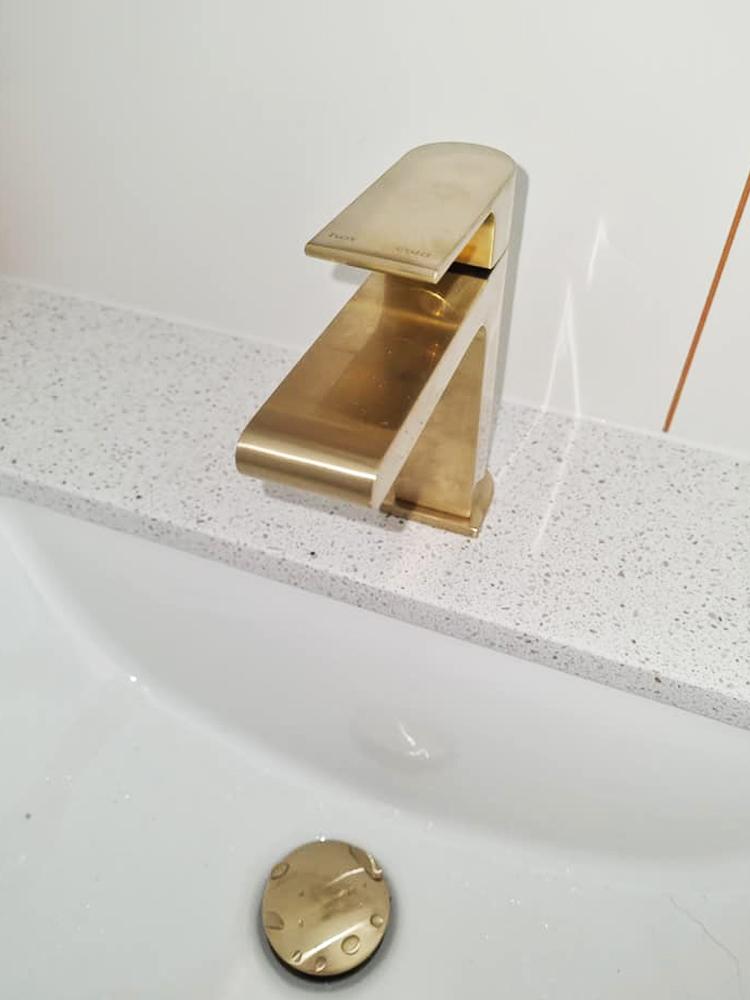 Brushed Brass Vanity Tapware
