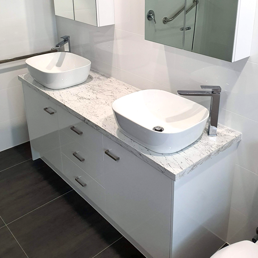 Double Mounted Basin Vanity