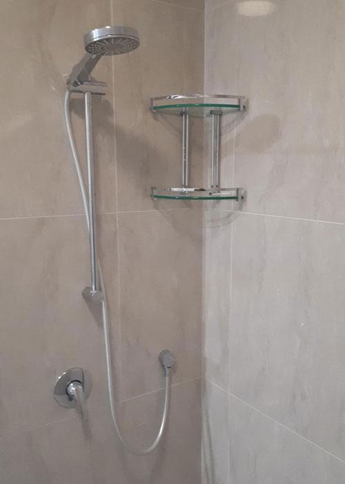 Shower Head & Rack