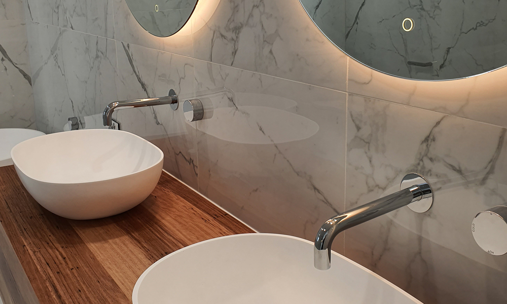 Silver Tapware Bathroom Renovation