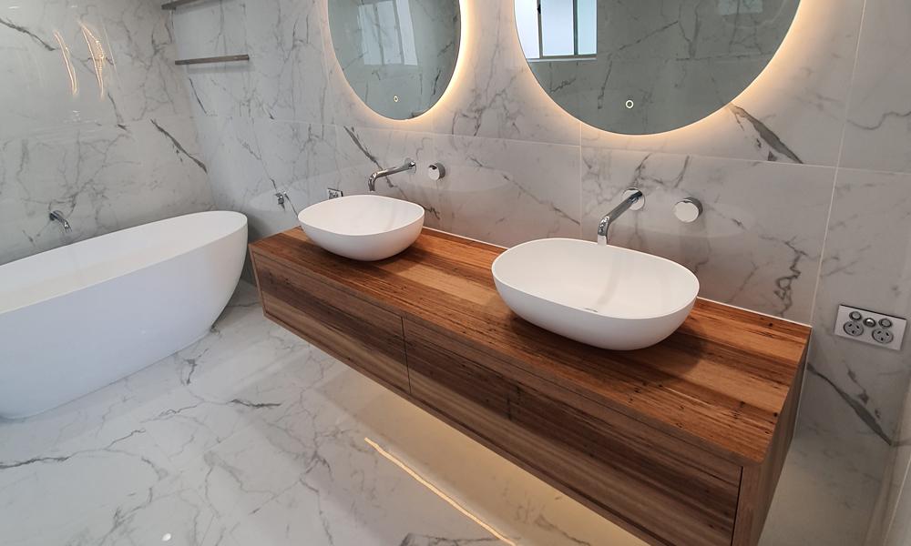Tiled Gold Coast Bathroom Makeover