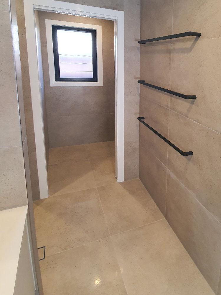 Towel Rails & Window Black Trim